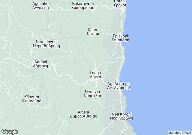 Map for Peloponnese, Messinia, Longa