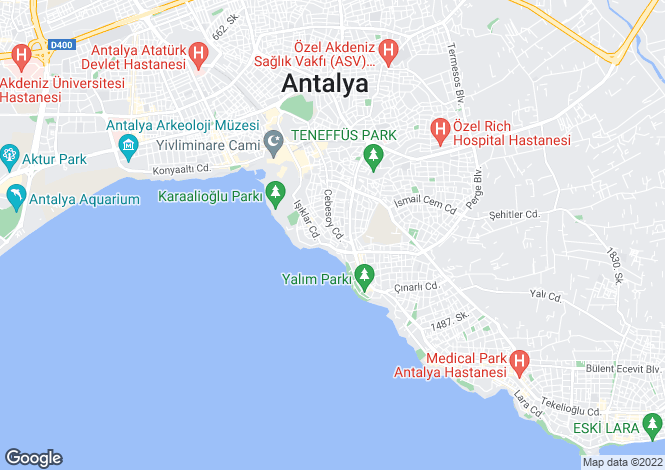 Map for Antalya, Antalya, Antalya
