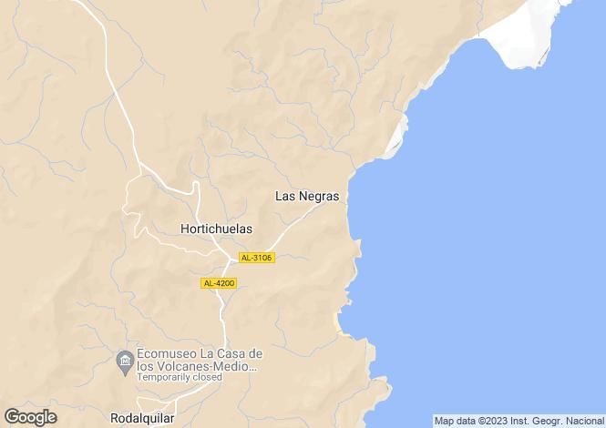 Map for Andalucia, Almería, Las Negras