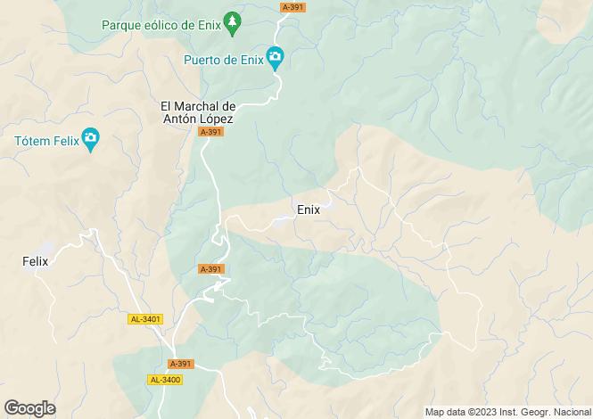 Map for Enix, Almería, Andalusia