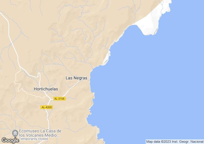 Map for Andalusia, Almería, Las Negras