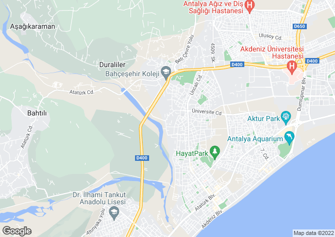 Map for Antalya, Antalya, Konyaalti