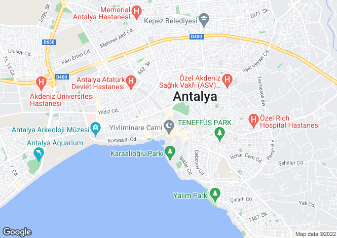 Map for Antalya, Antalya,  Turkey