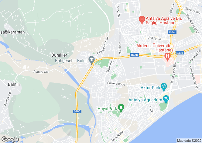 Map for Antalya, Antalya, Konyaalti