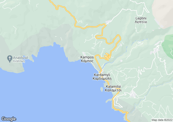 Map for Peloponnese, Messinia, Kardamyli