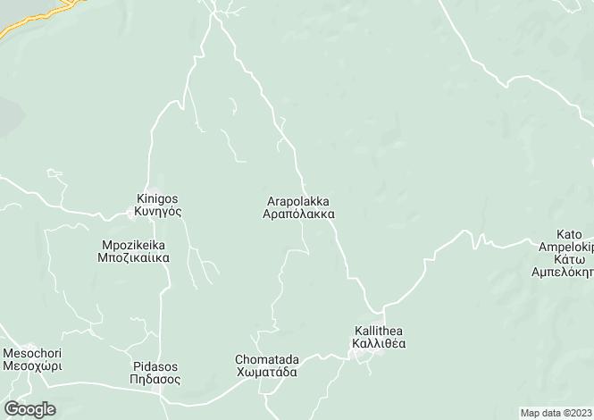 Map for Kallithea, Messinia, Peloponnese