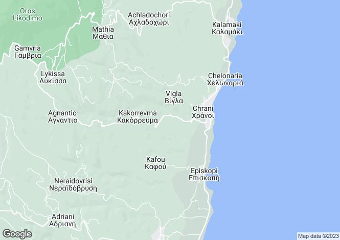 Map for Peloponnese, Messinia, Chrani