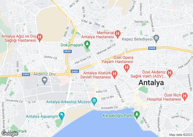 Map for Antalya, Antalya, Antalya