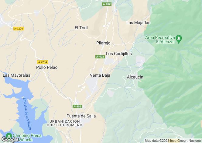 Map for Andalusia, Malaga, Alcaucín