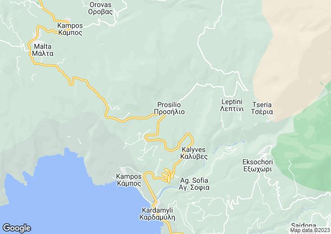 Map for Peloponnese, Messinia, Kardamyli