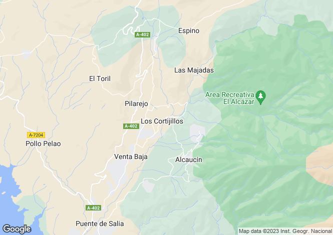 Map for Andalucia, Malaga, Alcaucín