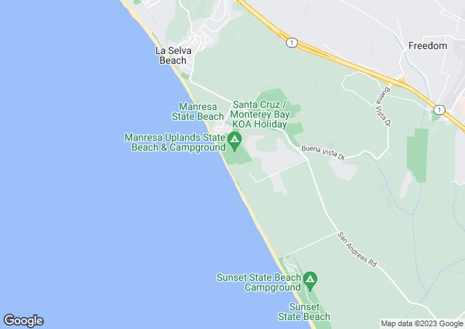 Map for California, Santa Cruz County, Watsonville