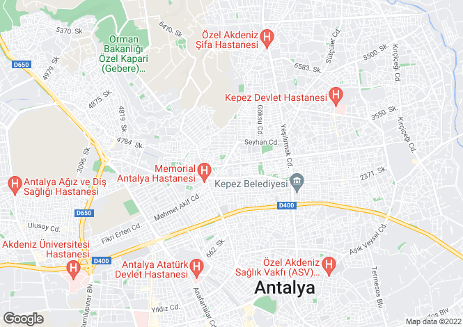 Map for Turkey