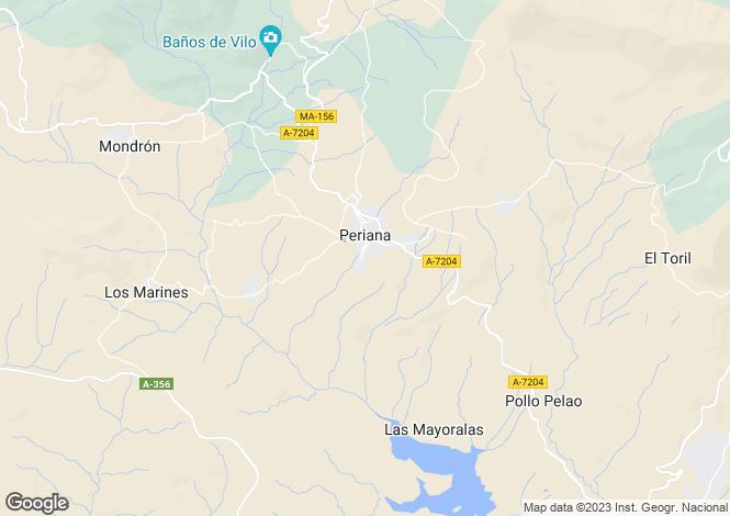 Map for Andalucia, Malaga, Periana