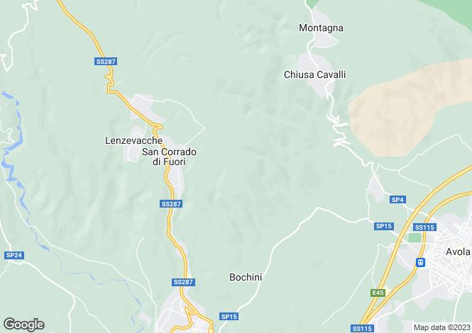 Map for Avola, Syracuse, Sicily