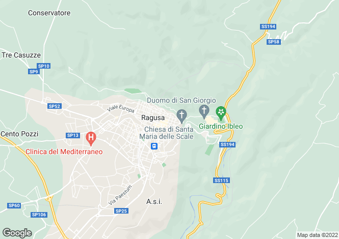 Map for Ragusa, Ragusa, Sicily