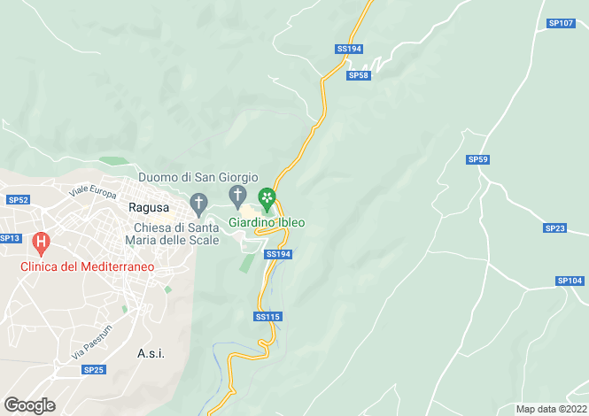 Map for Ragusa, Ragusa, Sicily