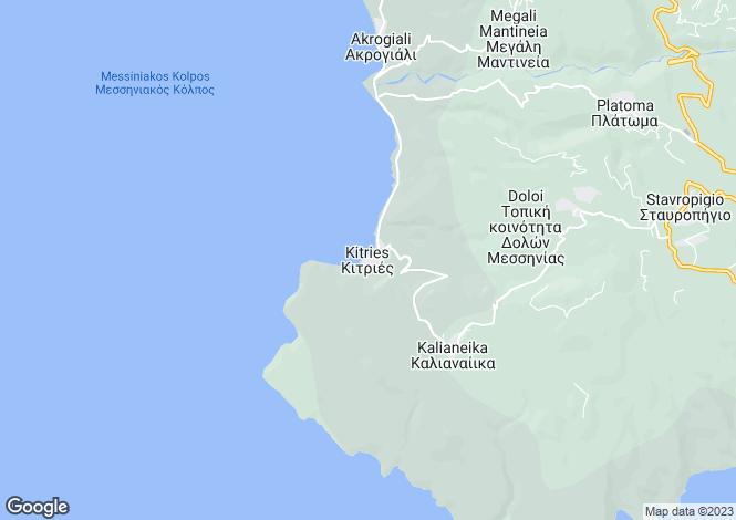 Map for Peloponnese, Messinia, Kitries