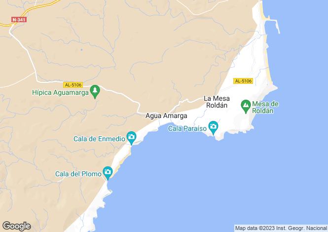 Map for Agua Amarga, Almería, Andalusia