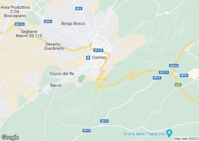 Map for Comiso, Ragusa, Sicily