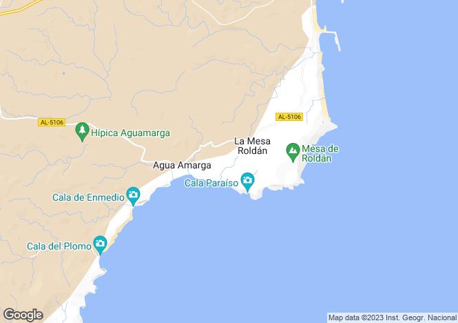 Map for El Cabo de Gata, Almería, Andalusia