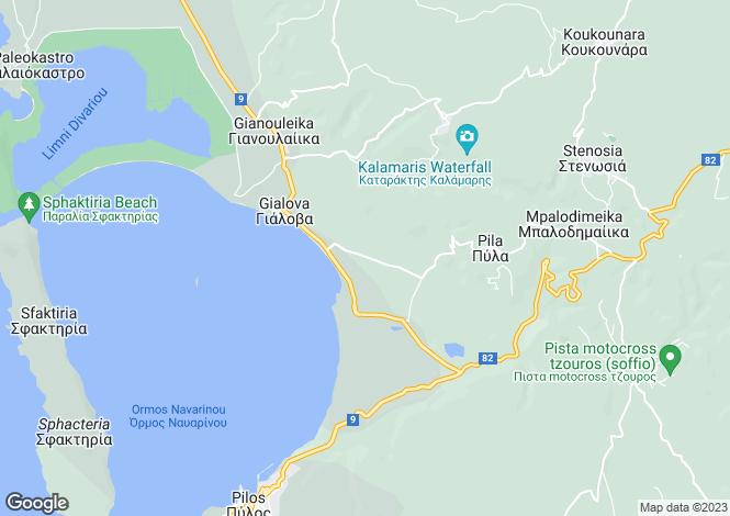 Map for Gialova, Messinia, Peloponnese