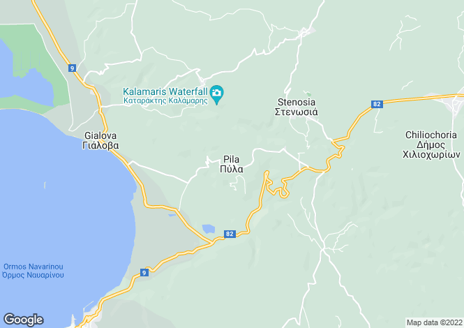 Map for Pyla, Messinia, Peloponnese