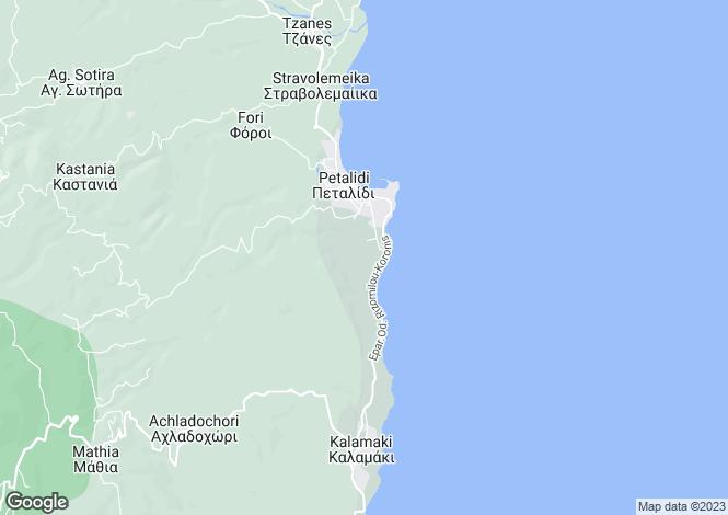 Map for Peloponnese, Messinia, Petalidi