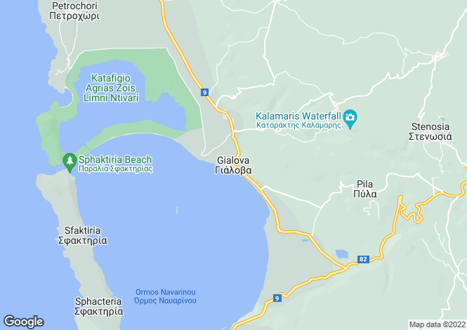 Map for Gialova, Messinia, Peloponnese