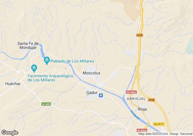 Map for Andalucia, Almería, Gádor