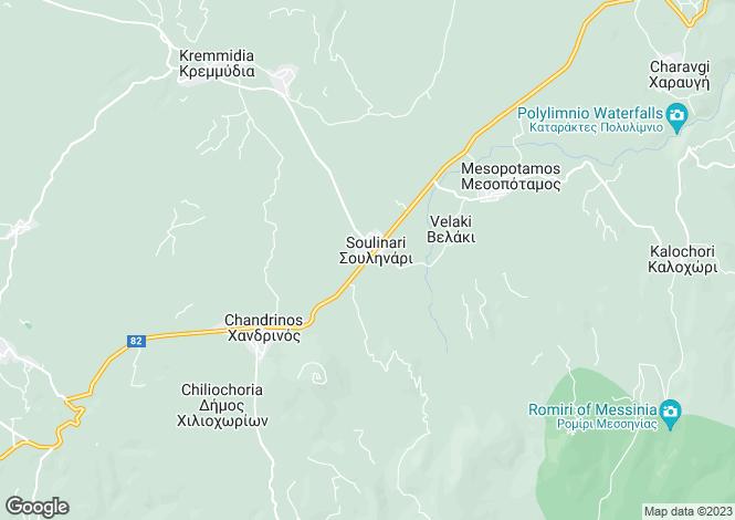 Map for Pylos, Messinia, Peloponnese