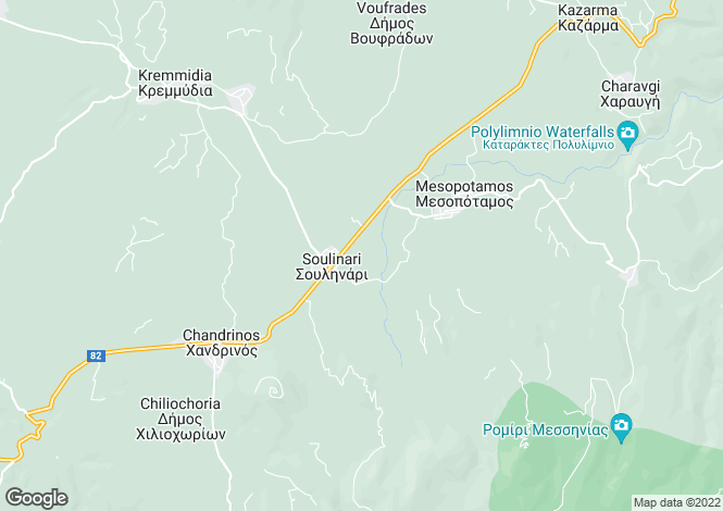 Map for Chandrinos, Messinia, Peloponnese
