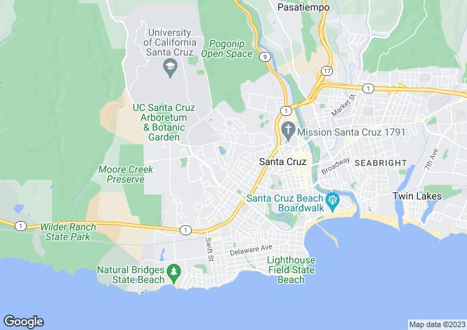 Map for California, Santa Cruz County, Santa Cruz