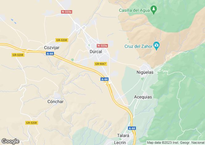 Map for Spain, Andalucía, Granada, Dúrcal