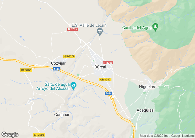 Map for Dúrcal, Granada, Andalusia