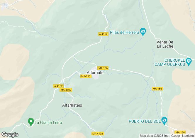 Map for Andalucia, Malaga, Alfarnate