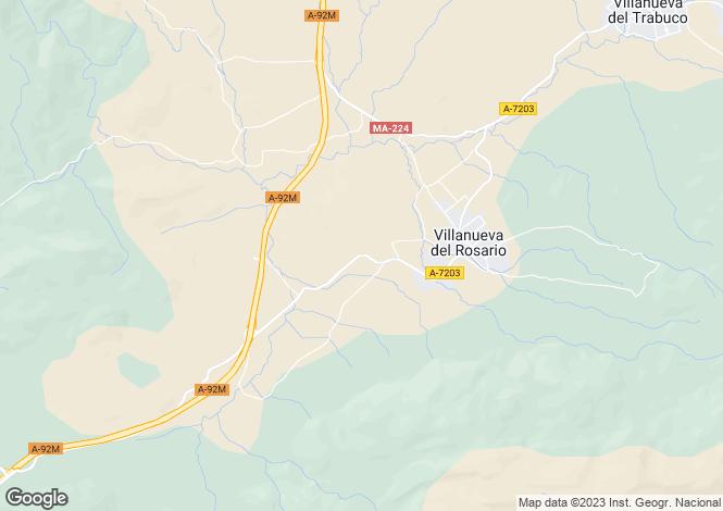 Map for Villanueva Del Rosario, Malaga, Spain
