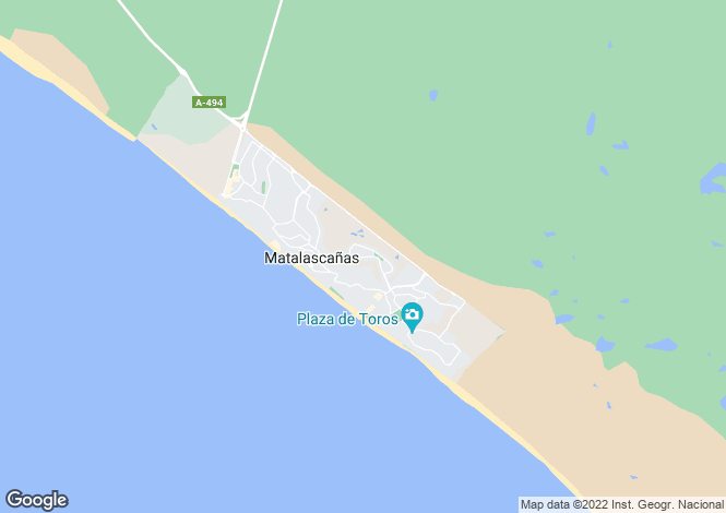 Map for Matalascañas, Huelva, Andalusia