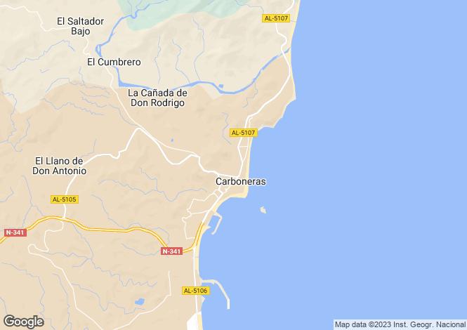 Map for Carboneras, Almería, Andalusia