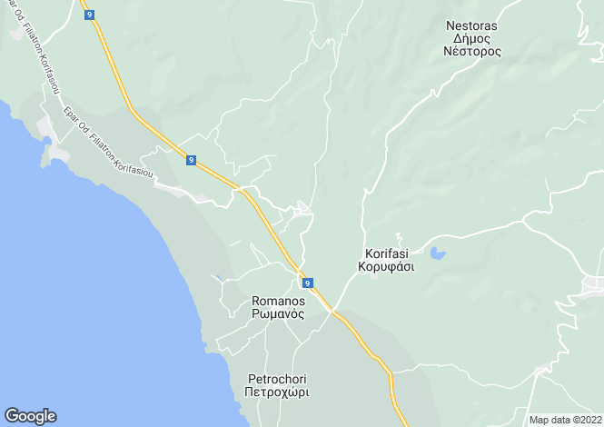Map for Tragana, Messinia, Peloponnese