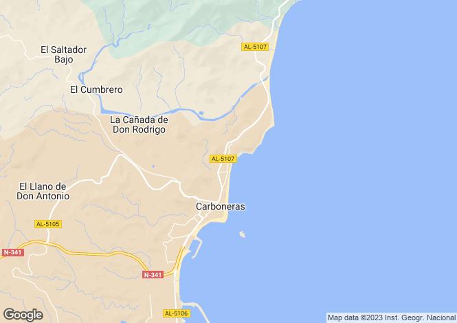 Map for Carboneras, Spain