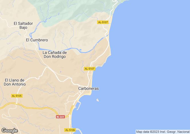 Map for Andalucia, Almería, Carboneras