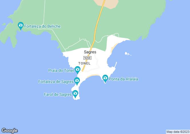 Map for Algarve, Sagres