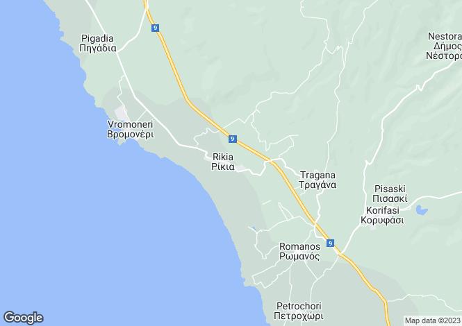 Map for Gargalianoi, Messinia, Peloponnese
