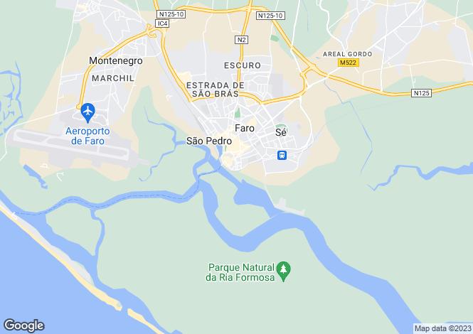 Map for Faro (Sé e São Pedro), Faro, Faro