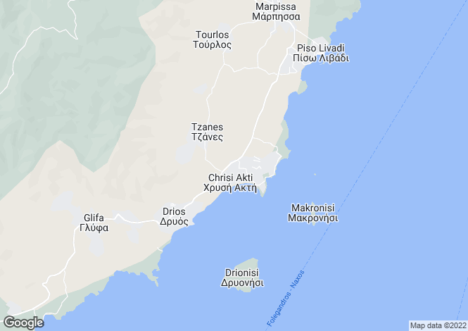 Map for Aliki, Paros, Cyclades islands