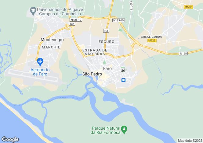 Map for Portugal,Algarve,Faro
