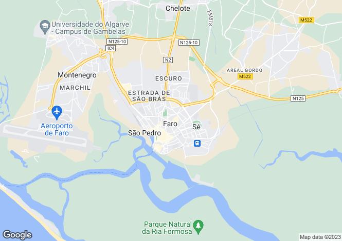Map for Santa Bárbara de Nexe, Faro, Faro