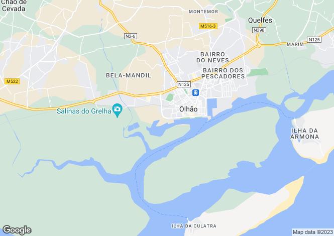 Map for Algarve, Olhão