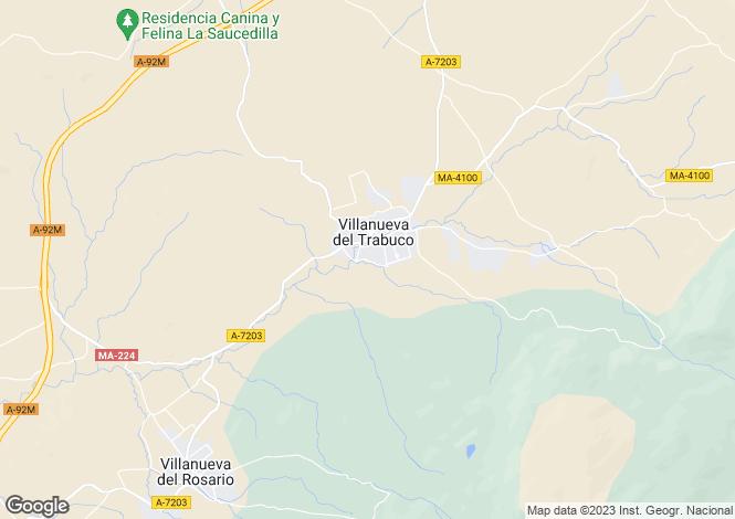 Map for Villanueva Del Trabuco, Malaga, Spain